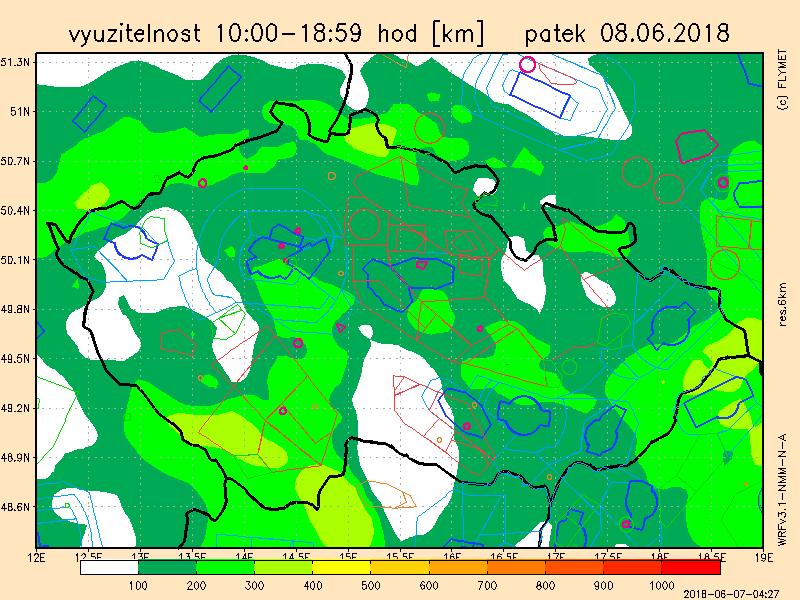 Mapa využitelnosti počasí na zítra